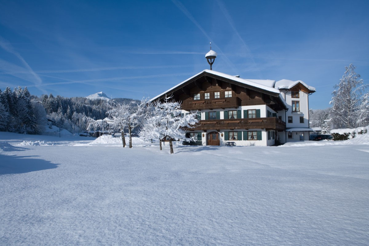 Appartementhaus Sonntal in Fieberbrunn im Winter